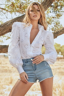 Abbey Clancy x Lipsy Broderie Shirt