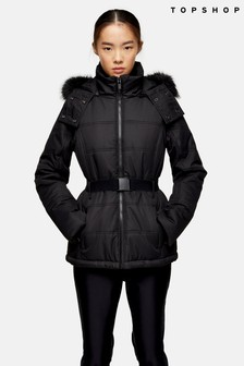 Topshop Snow Hooded Ski Jacket
