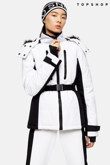 Topshop Colour Block Ski Jacket