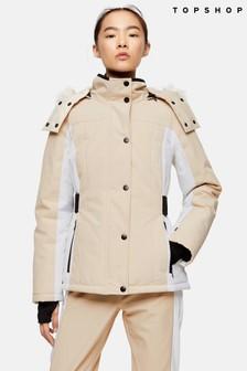 Topshop Snow Stone Colour Block Ski Jacket