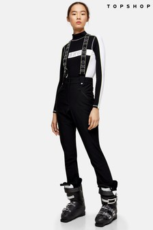 Topshop Snow Stone And Ecru Colour Block Ski Trousers