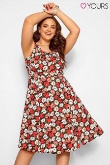 Yours Pleat Neck Sleeveless Dress