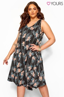 Yours Full Swing Hear Print Dress