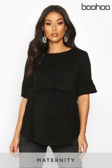 Boohoo Maternity Nursing Smock Top