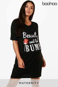 """Boohoo Umstandsmode Nachthemd """"Beauty And The Bump"""""""