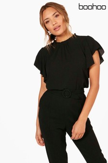 Boohoo Angel Sleeves Blouse