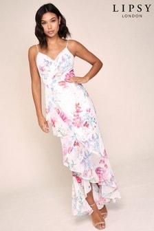 Lipsy Printed Wrap Maxi Dress