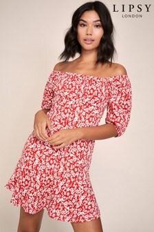 Lipsy Crinkle Mini Dress