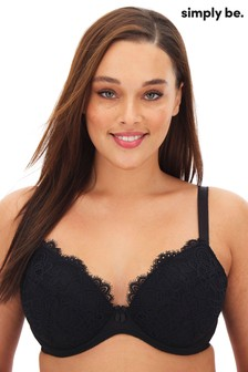 Simply Be Jade Lace Full Cup Wired Bra GG+