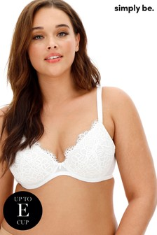 Simply Be Jade Lace Plunge Wired Bra DD+