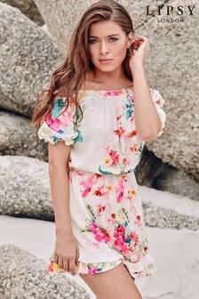 Lipsy Floral Bardot Playsuit