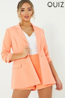 Quiz Button Front Blazer Jacket