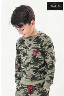 Threadboys Camo Print Sweatshirt