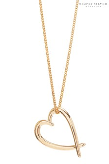 Simply Silver Sterling Silver Heart Pendant