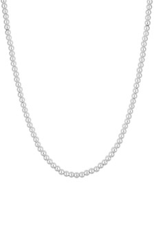 Simply Silver Sterling Silver 925 Polished Large Ball Bead Allway Necklace