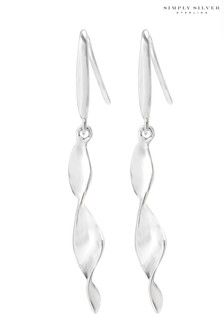 Simply Silver Sterling Silver 925 Polished Tight Curl Drop Earring