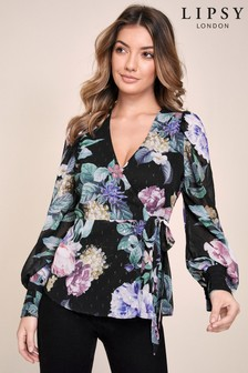 Lipsy Printed Wrap Top