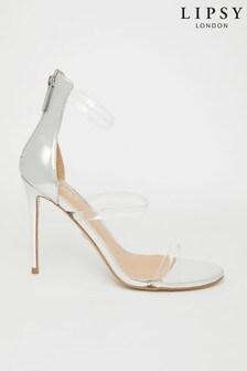 Lipsy Perspex 3 Stripe Heel Sandal