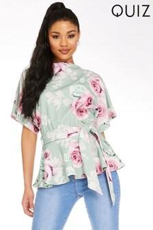Quiz Floral Batwing Sleeve Top