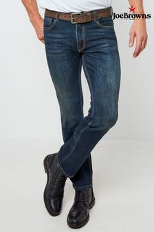 Joe Browns Dark Distress Straight Jeans