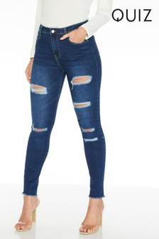 Quiz Denim Ripped Skinny Jeans