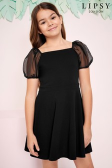 Lipsy Girl Organza Puff Sleeve Dress