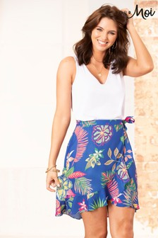 Pour Moi Frill Detail Woven Wrap Skirt