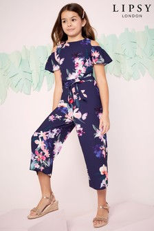 Lipsy Girl Cold Shoulder Culotte Jumpsuit