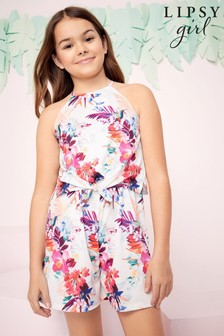 Lipsy Tie Front Jersey Playsuit