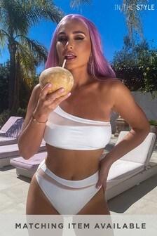 In The Style Billie Faiers Mesh Insert Co-ord Bikini Bottom
