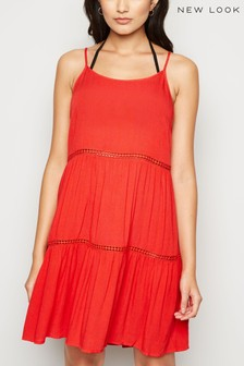New Look Crochet Insert Swing Dress