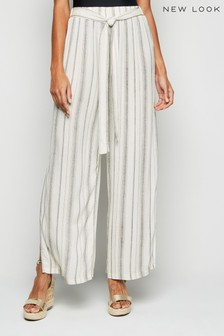 New Look Stripe Belted Trouser