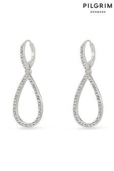 Pilgrim Delia Silver Plated Crystal Earrings