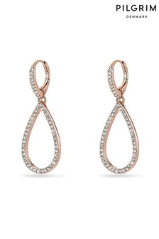 Pilgrim Delia Rose Gold Plated Crystal Earrings