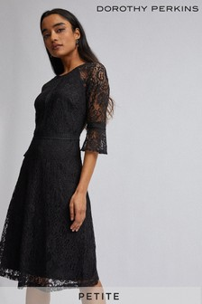 Dorothy Perkins Petite 3/4th Sleeves Tilly Lace Dress