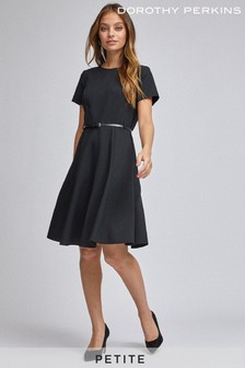 Dorothy Perkins Petite Fit And Flare Short Sleeve Dress
