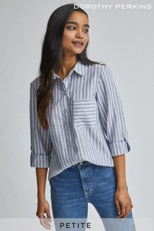 Dorothy Perkins Petite Striped Linen Shirt