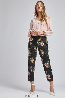 Dorothy Perkins Petite Floral Printed Ankle Grazer Trouser