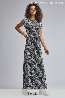Dorothy Perkins Tall Tropical Tee Tie Back Maxi Dress
