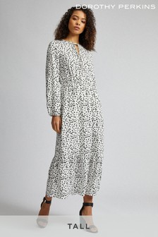 Dorothy Perkins Tall Spot Print Smock Dress