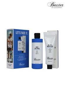 Baxter of California Lets Face It Skincare Grooming Kit, Oil Free Moisturizer, Daily Face Wash, Shampoo  Conditioner Gift Set