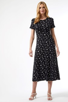 Dorothy Perkins Heart Print Jersey Midi Dress