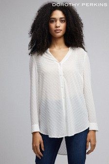 Dorothy Perkins Chiffon Long Line Shirt