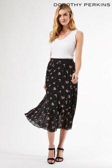 Dorothy Perkins Ditsy Print Pleat Skirt