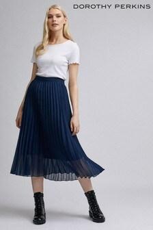 Dorothy Perkins Chiffon Pleat Midi Skirt