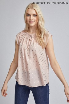 Dorothy Perkins Foil Double Layer Bardot Top
