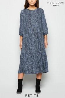 New Look Petite Siobhan Animal Tier Midaxi Dress