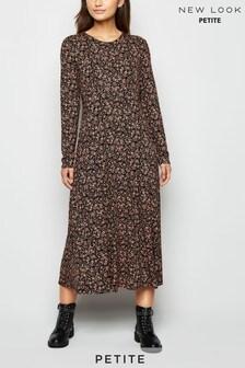 New Look Petite Alelish Long Sleeve Midi Dress