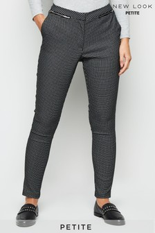 New Look Petite Grid Jaq Bengaline Trouser