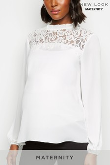 New Look Larissa Lace Panel Shell Top